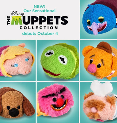 The Muppets Tsum Tsum Plush Collection by Disney - Kermit the Frog, Miss Piggy, Fozzie Bear, Gonzo, Animal, Rawlf the Dog & The Swedish Chef