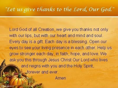 prayer of thanksgiving day 2016