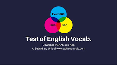 Test Your English Vocabulary for BANK SSC Exams