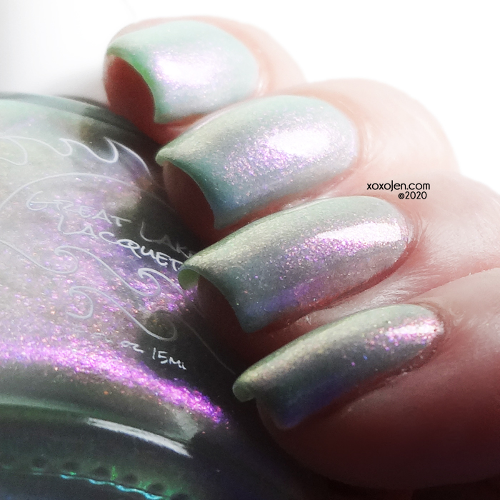 xoxoJen's swatch of Great Lakes Lacquer Clarity
