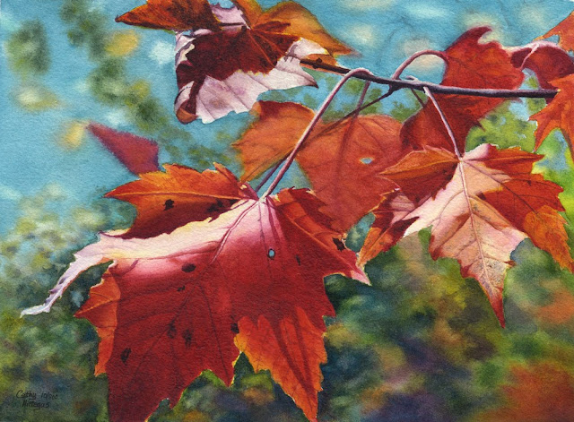 Autumn Leaves Painting by Cathy Hillegas