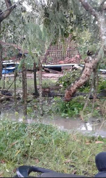 Puting Beliung Menerjang Desa Bringinwareng Winong Pati, Puluhan Rumah Rusak Berat7