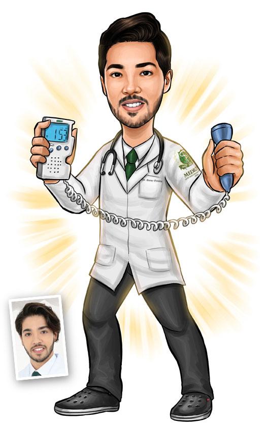 caricatura medicina belo horizonte