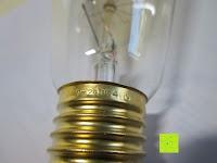 Gravur: CRECO E27 40W Edison Lampe Squirrel Cage Vintage Lampe Ideal für Nostalgie und Retro Beleuchtung 2700K Warmweiß