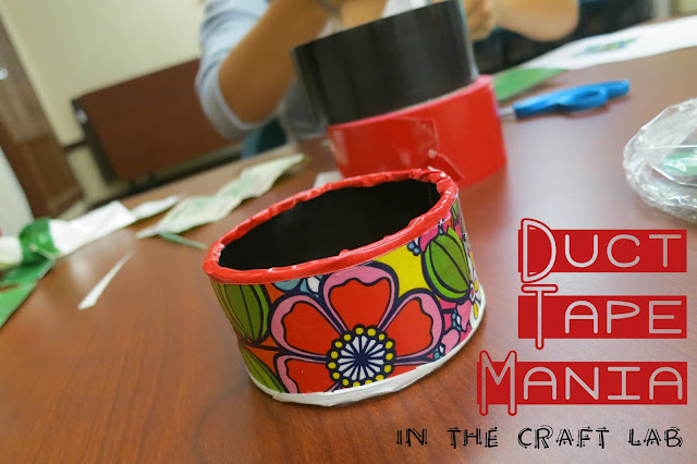 http://librarymakers.blogspot.com/2013/08/craft-lab-duct-tape.html