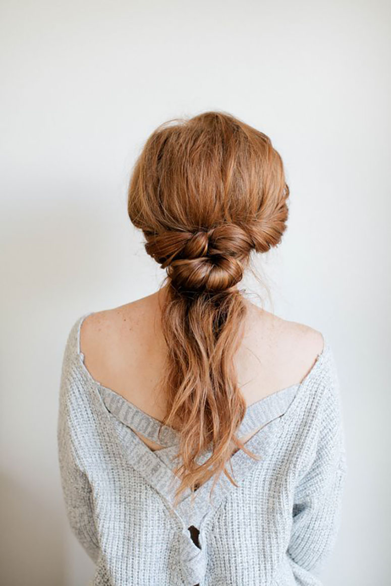 THE Hairstyle To Try This Fall: The Knotted Ponytail | Kayla Lynn