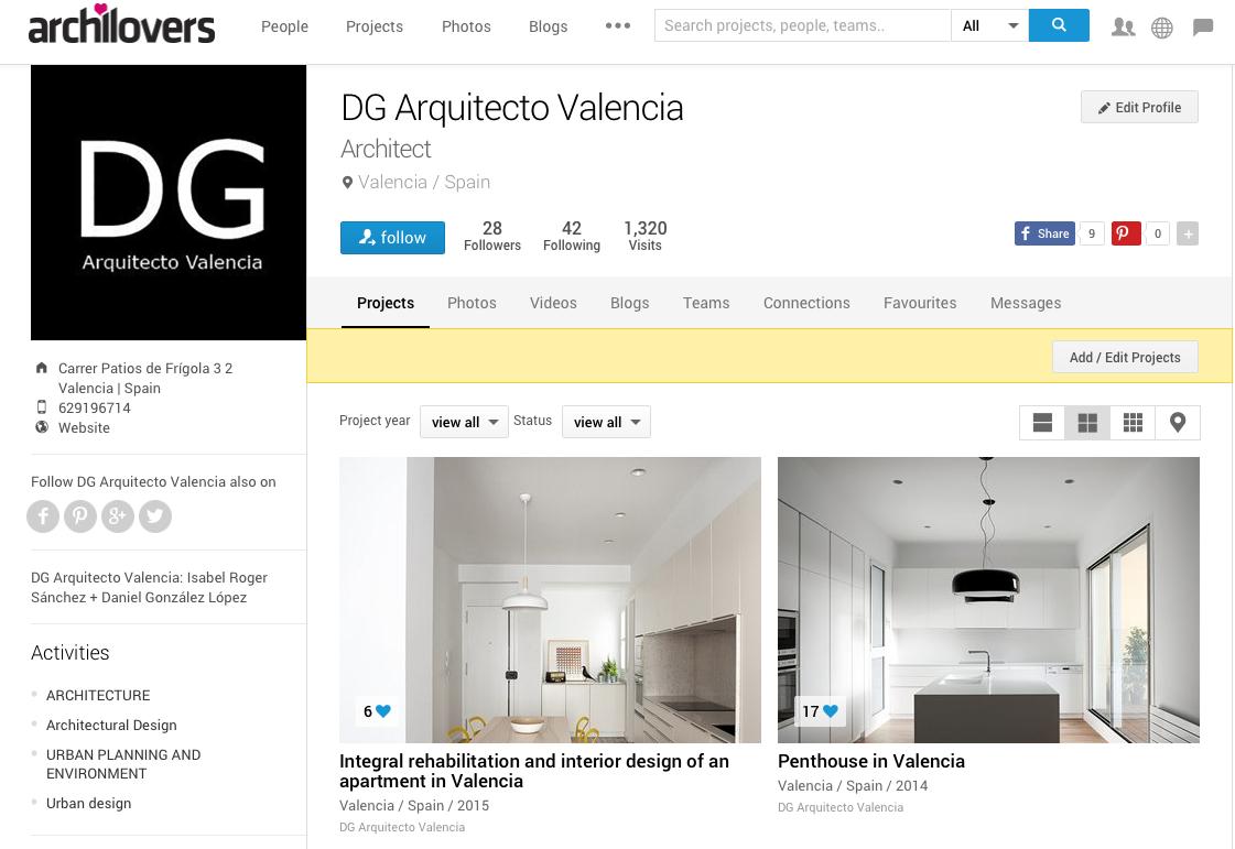 Dg arquitecto valencia en archilovers dg arquitecto valencia - Trabajo arquitecto valencia ...