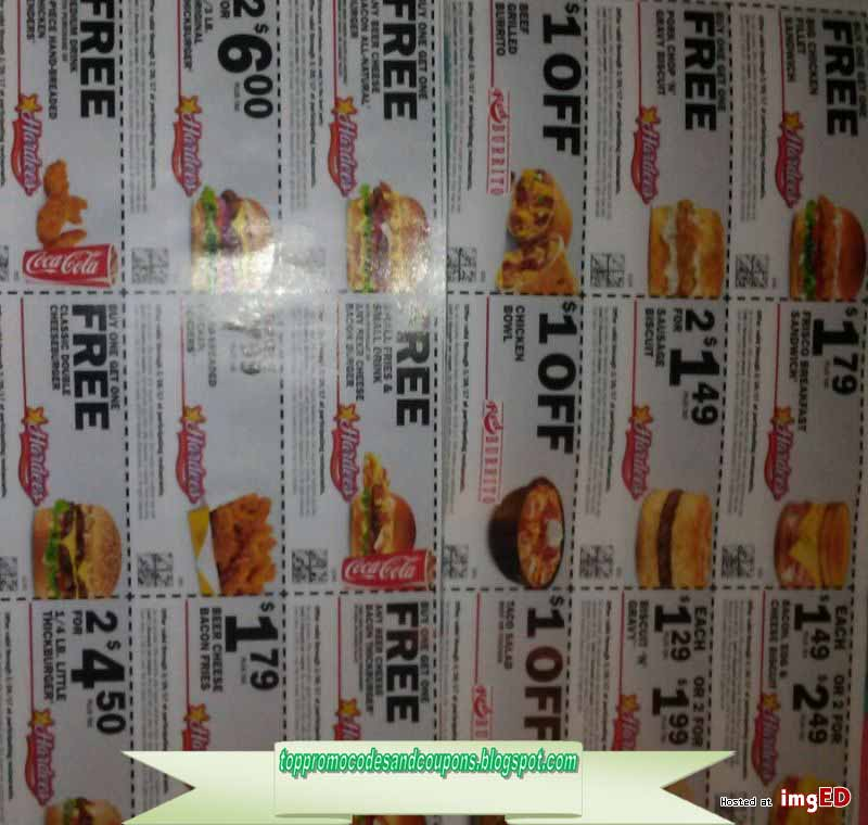photograph about Hardee's Printable Coupons referred to as Cost-free Promo Codes and Discount codes 2019: Hardees Coupon codes