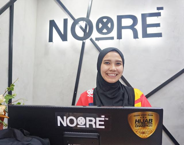 noore sport, baju olahraga, store, hijab