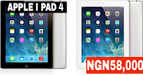 APPLE I PAD 4 Retina HD (NGN58,000)