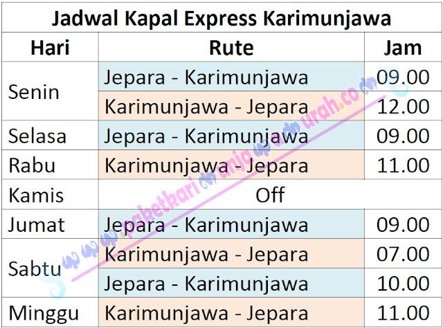 Jadwal Kapal Express Jepara Karimunjawa Terbaru