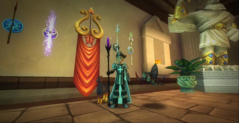 Wizard101 Aquila Secret Furniture and Wands