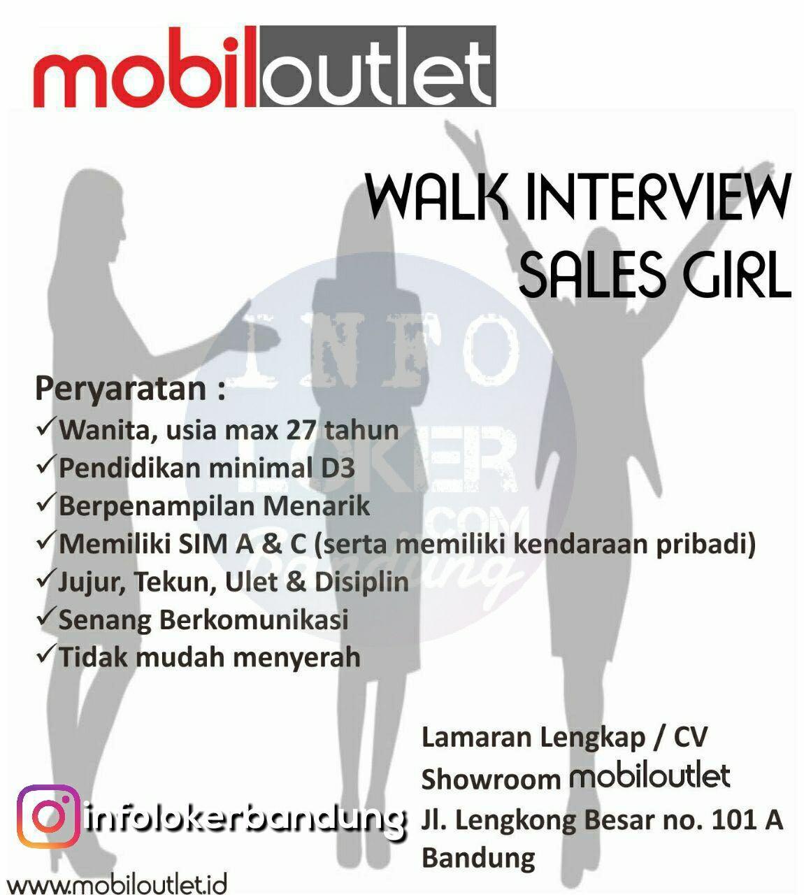 Walk In Interview Mobil Outlet Bandung Oktober 2017