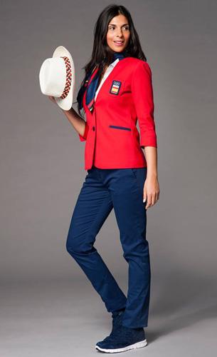 traje mujer desfile España Juegos Olímpicos Rio 2016 Joma