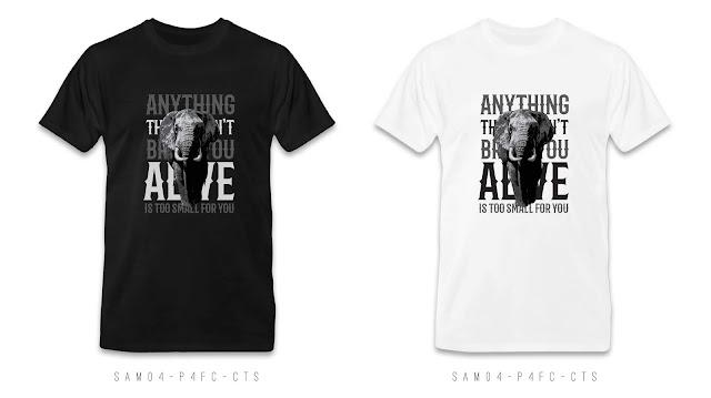 SAM04-P4FC-CTS Animal T Shirt Design, Custom T Shirt Printing