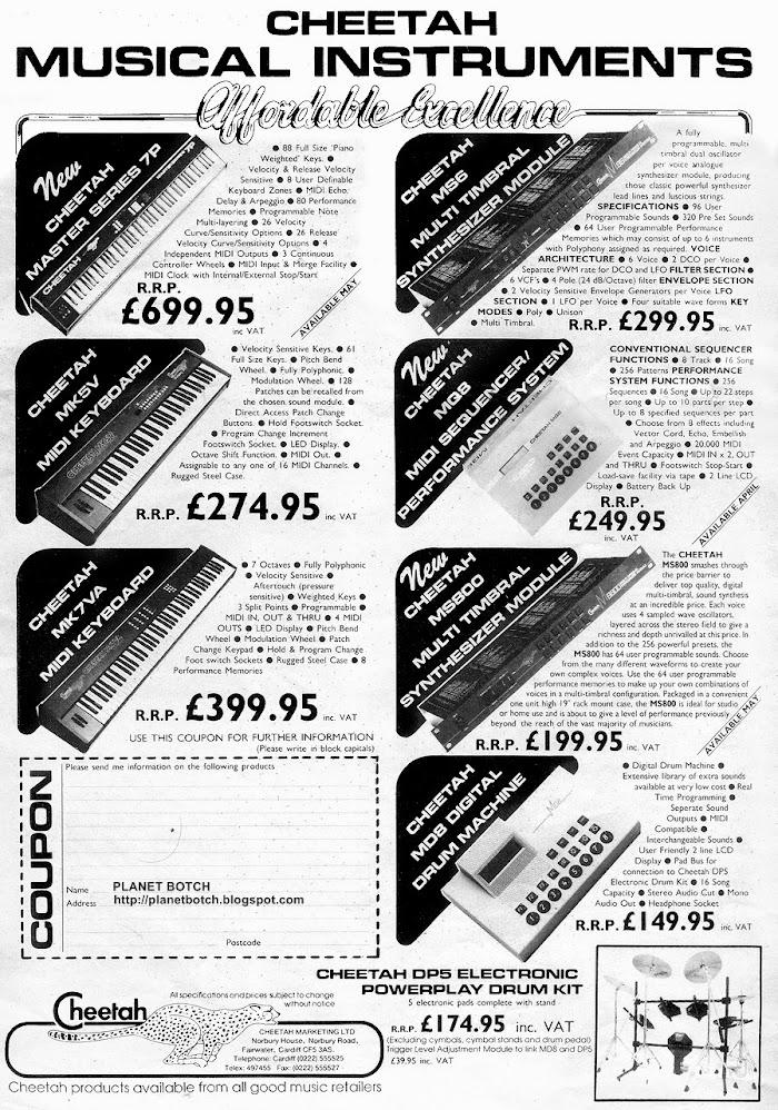 Cheetah Musical Instruments 1980s