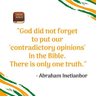 bible vs opinions
