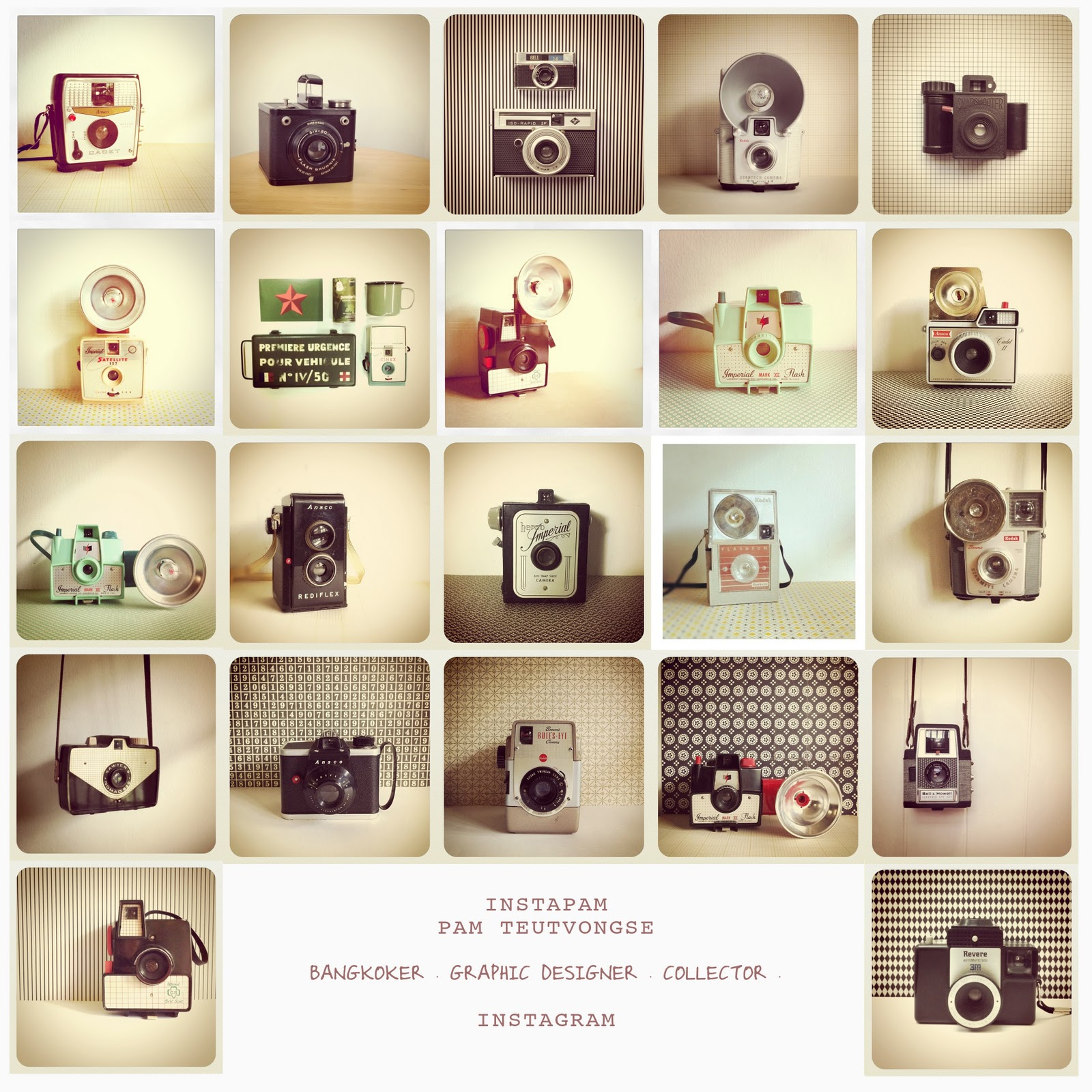 In My Bucket Vintage Camera Collection By Instapam