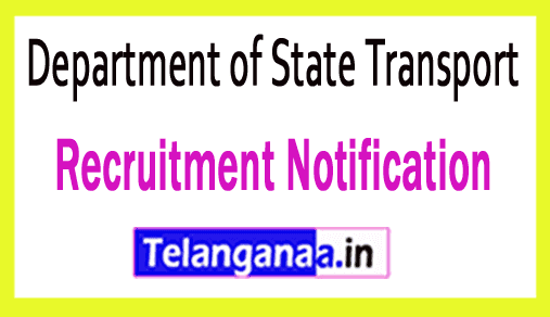 Department of State Transport DST Recruitment