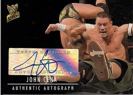 how much is your john cena wwe autograph worth. Black Bedroom Furniture Sets. Home Design Ideas