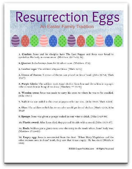 Crayon Freckles: Resurrection Eggs: The Easter Story for Kids ...