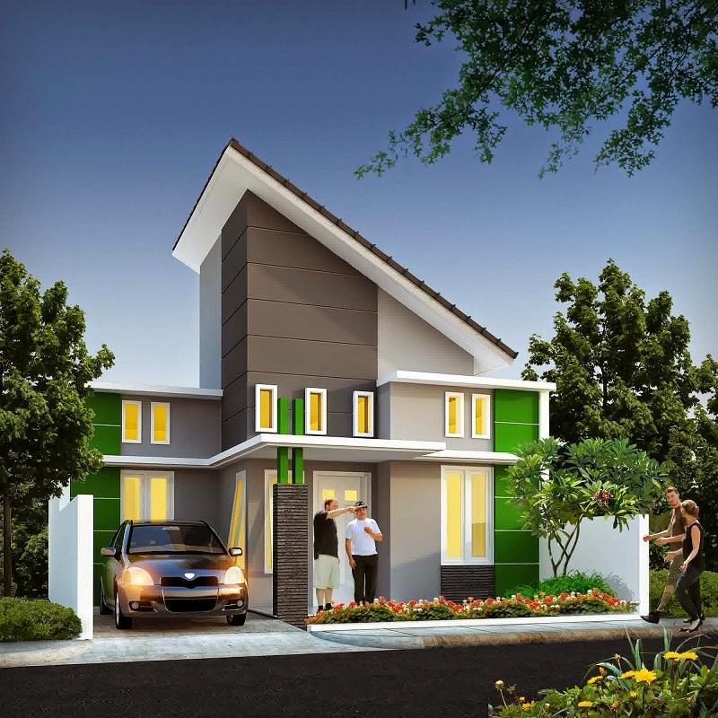 Gambar Desain Atap Rumah Bentuk L