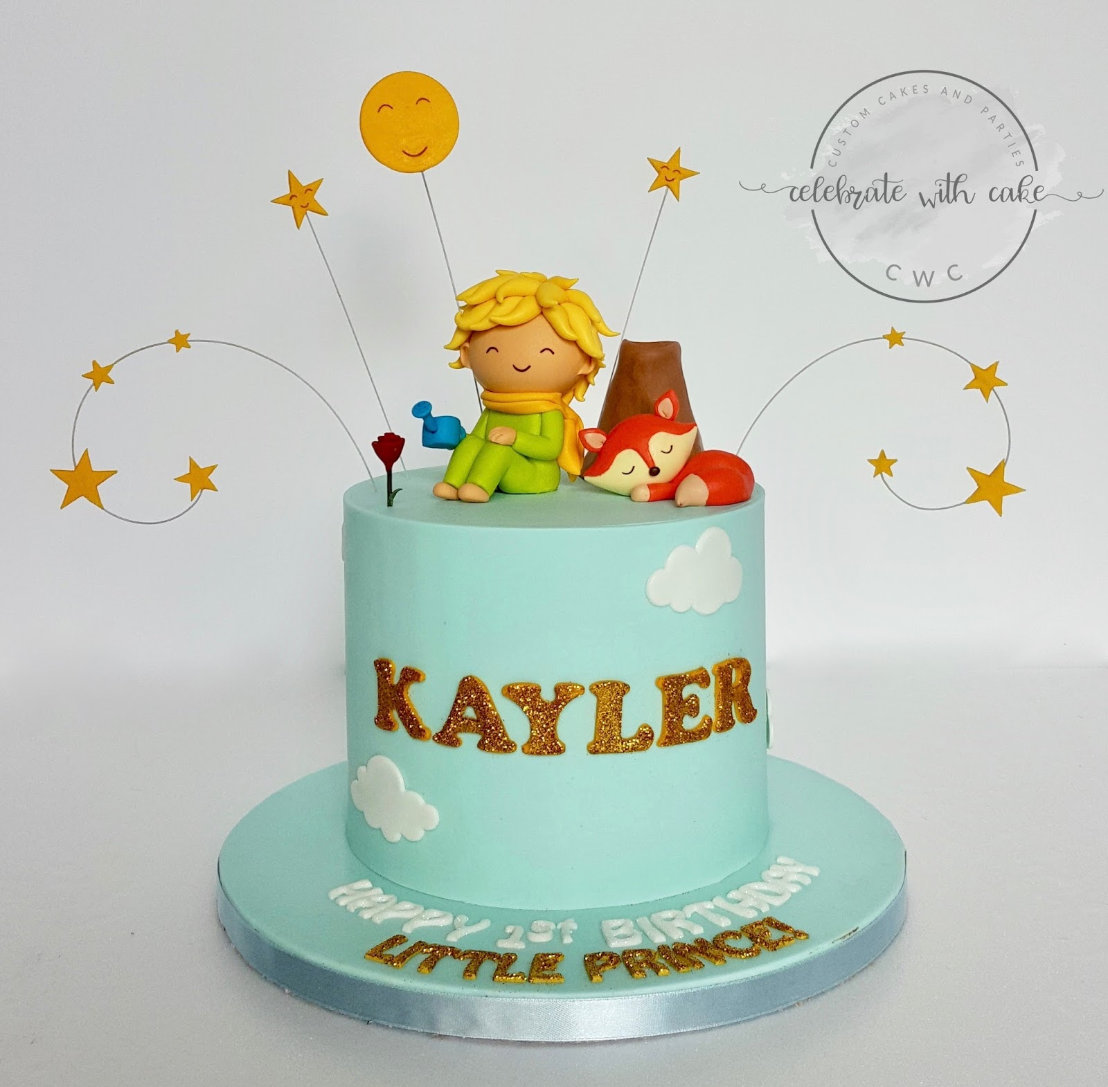 Awesome Celebrate With Cake The Little Prince 1St Birthday Cake Funny Birthday Cards Online Inifodamsfinfo