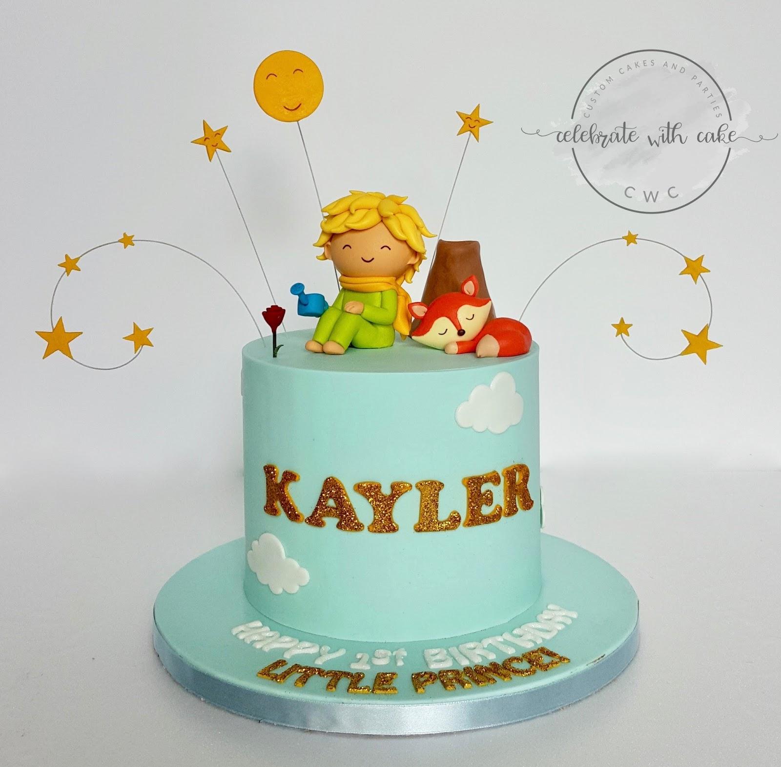 Awe Inspiring Celebrate With Cake The Little Prince 1St Birthday Cake Personalised Birthday Cards Bromeletsinfo