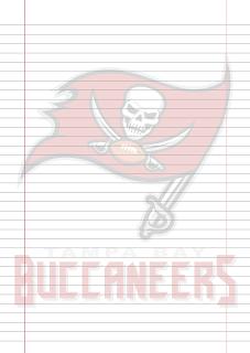 Folha Papel Pautado Tampa Bay Buccaneers PDF para imprimir na folha A4