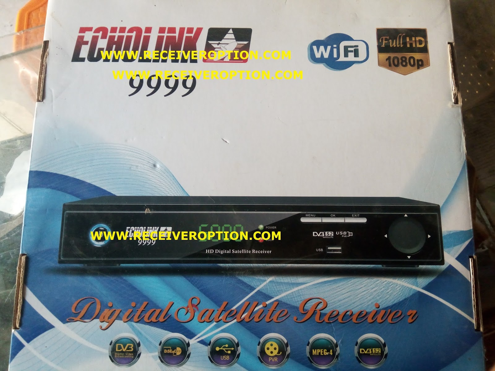ECHOLINK 9999 HD RECEIVER AUTO ROLL POWERVU KEY NEW SOFTWARE - HOW