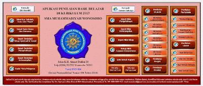 Aplikasi Penilaian dan Raport Kurikulum 2013 SMP SMA/SMK/MA Terbaru