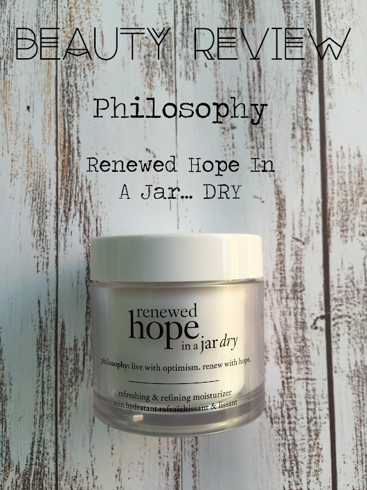 Beauty Review || Renewed Hope In A Jar. Dry...