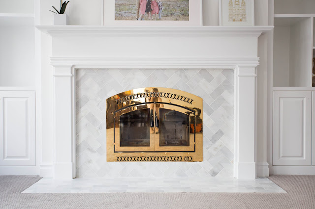 do it yourself divas DIY Marble Tile Fireplace Renovation