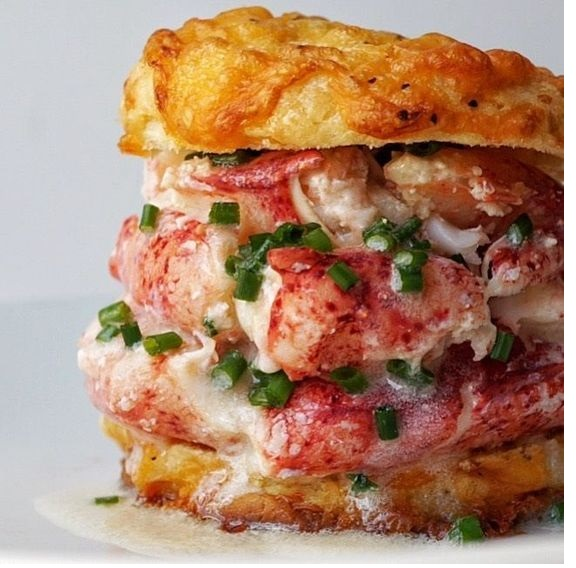 Drooling butter for the Cheddar Cheese Biscuits and Lobster Sandwich