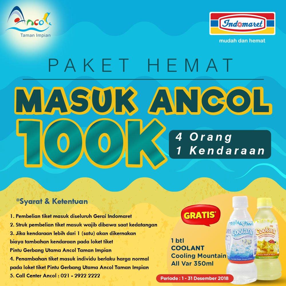 Indomaret - Promo Tiket Masuk Ancol 4 Orang Cuma 100K (s.d 31 Des 2018)