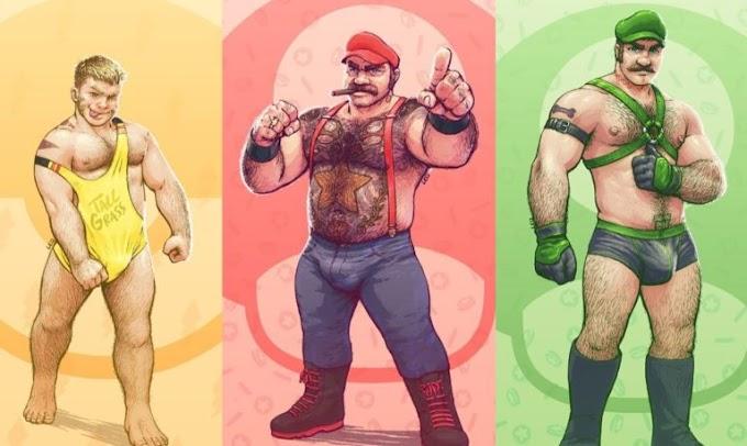 Artista cria versões ursinas de personagens de Mario Bros e Pokémon