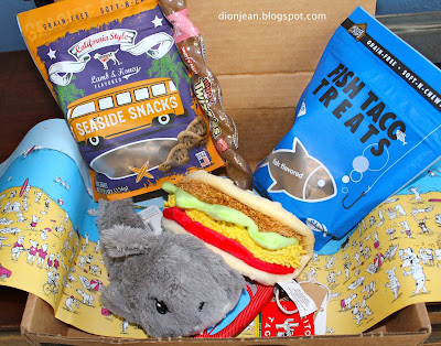 Closeup of the BarkBox August 2016 shipment