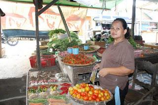 Salah sau pedagang Cabai di Pasar Kotabunan.