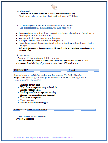 over 10000 cv and resume samples with free download  mba marketing experience resume sample