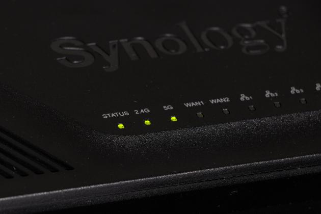 Diody statusu w Synology RT2600ac