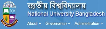 জাতীয় বিশ্ববিদ্যালয় ফলাফল / ভর্তির জন্য অনলাইনে আবেদন।  National University (NU) Result Search /online Admission Apply