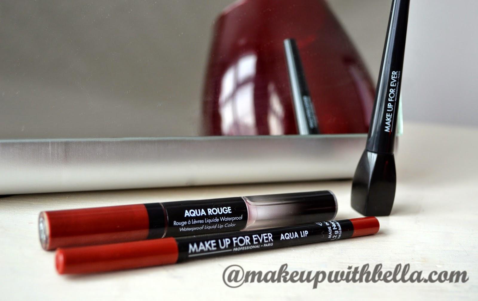 makeup with bella make up for ever aqua lipstick pencil and ink liner review. Black Bedroom Furniture Sets. Home Design Ideas