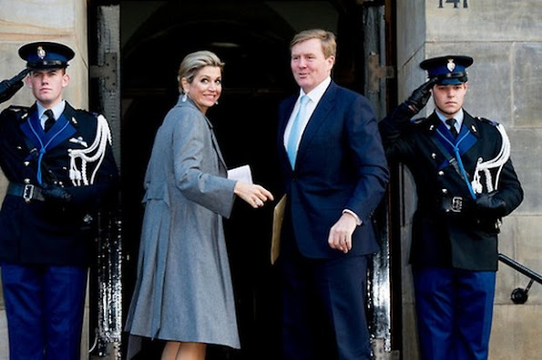 King Willem-Alexander, Queen Máxima and Princess Beatrix, Prince Constantijn of the Netherlands attended the Praemium Erasmianum Foundation Erasmus Prize 2015 ceremony at the Royal Palace