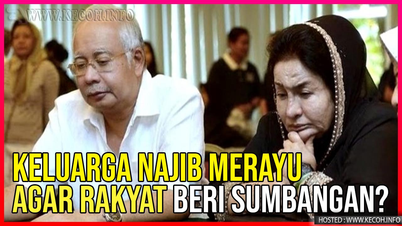 Najib Dan Rosmah Rayu Minta Sumbangan Ramai Kerana Kesempitan Wang?