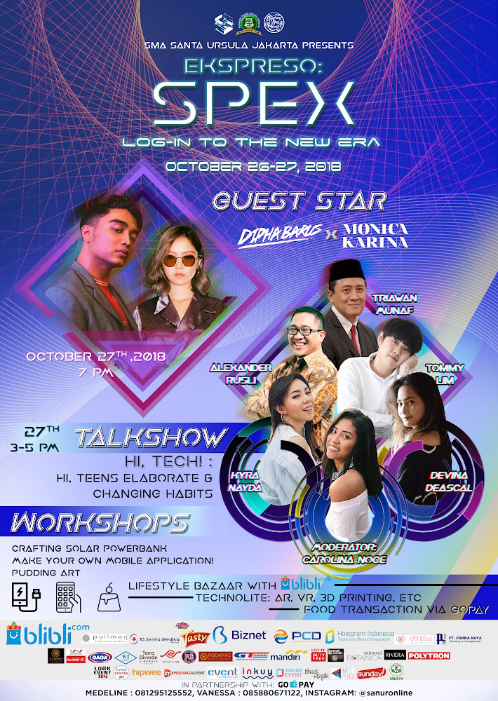 SMA Santa Ursula Jakarta -  SPEX: Log in to the New Era