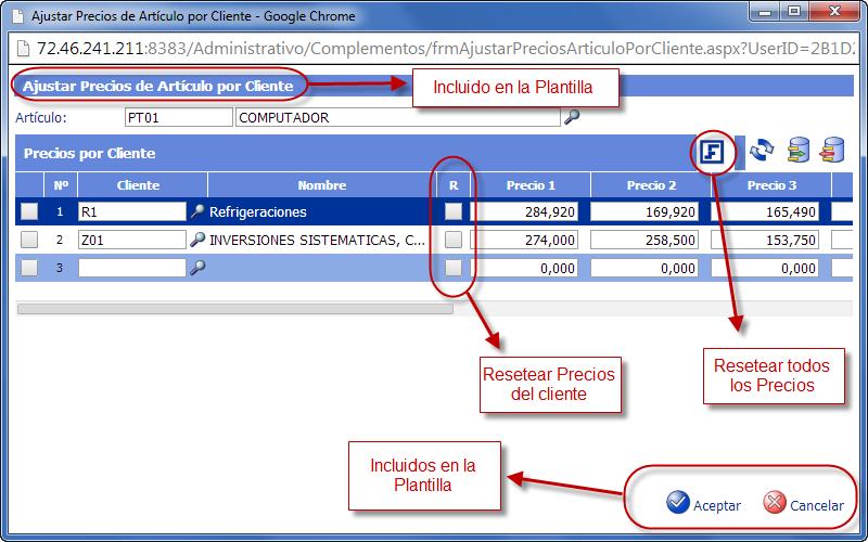 Interfaz del Complemento - Archivo ASPX (GUI) - Programación de Complementos para eFactory ERP/CRM, Contabilidad y Nómina