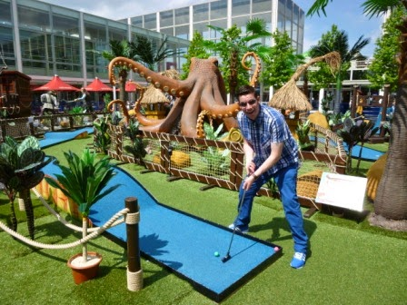 Pirate Miniature Golf at thecentre:MK in Milton Keynes