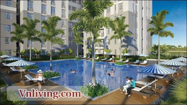 Swimming pool in Masteri Thao Dien apartment District 2 HCMC