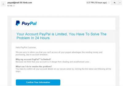 PayPal alert