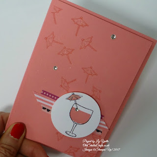 Flirty Flamingo Mixed Drinks Card